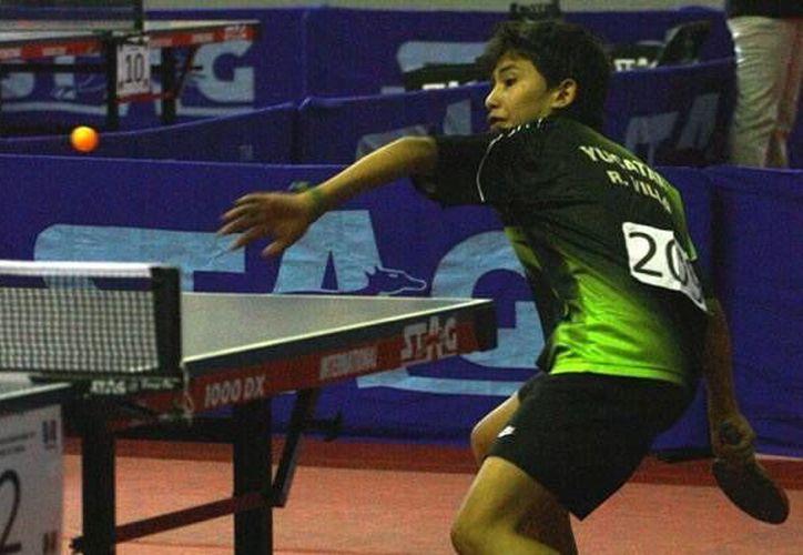 Ricardo Villa Can, de tenis de mesa, tiene calidad para representar al Estado a nivel nacional. (Archivo/SIPSE)