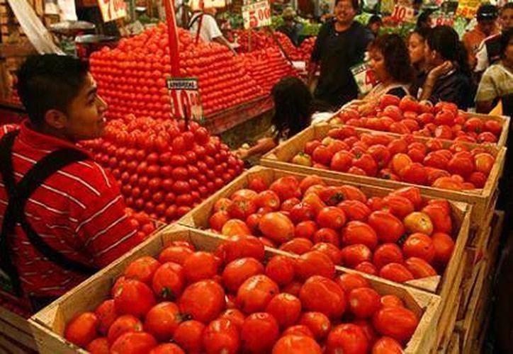 El jitomate fue uno de los productos que tuvo mayor incidencia en el aumento del nivel de precios. (eleconomista.com.mx)