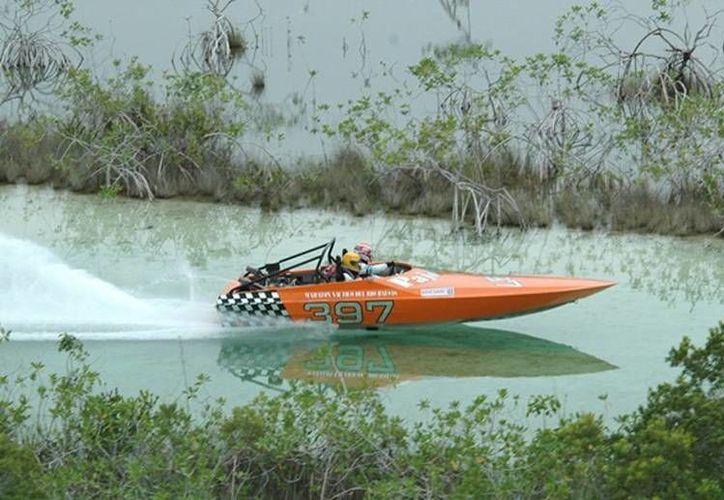 La carrera se realizará en la laguna de los siete colores. (motonauticamexico.com)