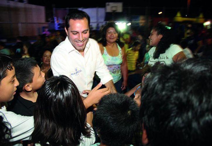 Mauricio Vila ofrece una Mérida donde los niños puedan vivir tranquilos. (SIPSE)