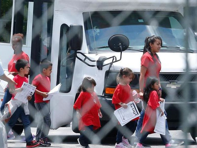Hundreds of detained parents are still awaiting news of their children's whereabouts. (AP)