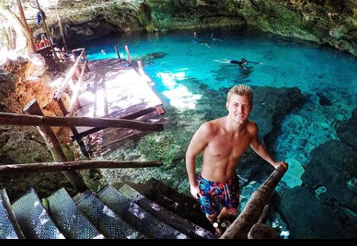 Marcus Ericsson tomó unos días de descanso en Tulum. (Captura Instagram).