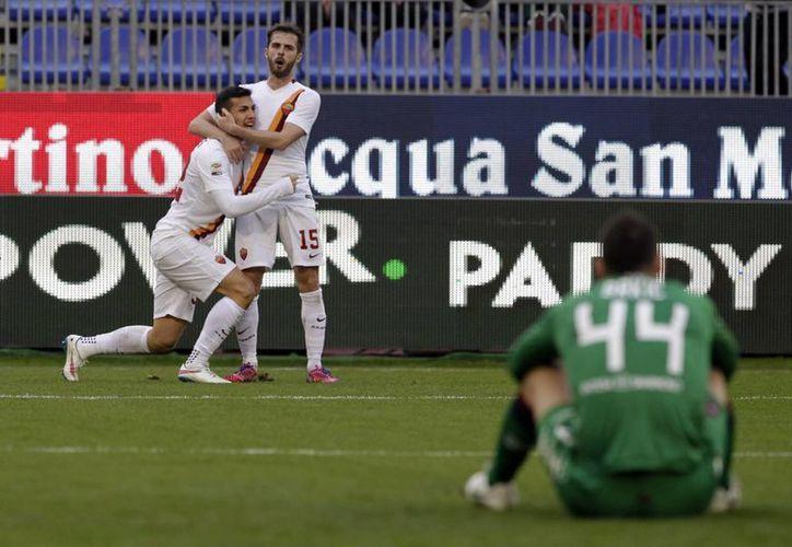 Leandro Paredes hizo el tanto del triunfo a 5 minutos del final. (Foto: AP)