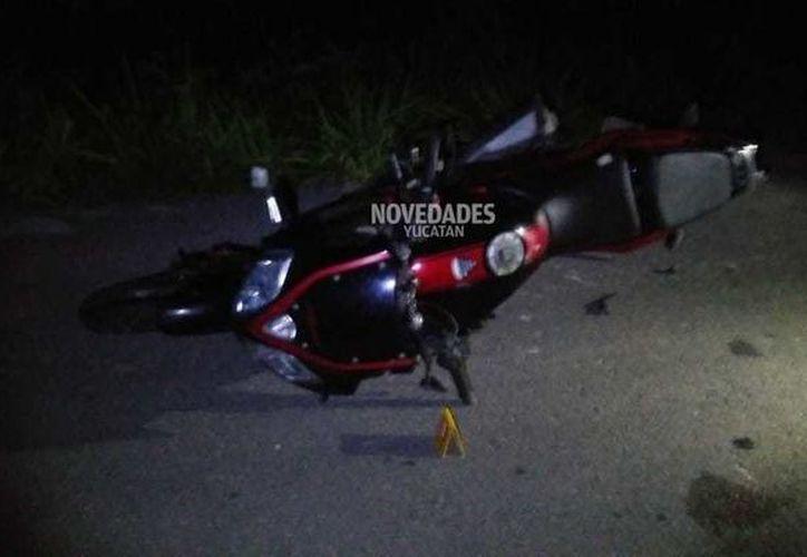 El motociclista iba a Cancún cuando se accidentó sin que intervinieran otras personas-