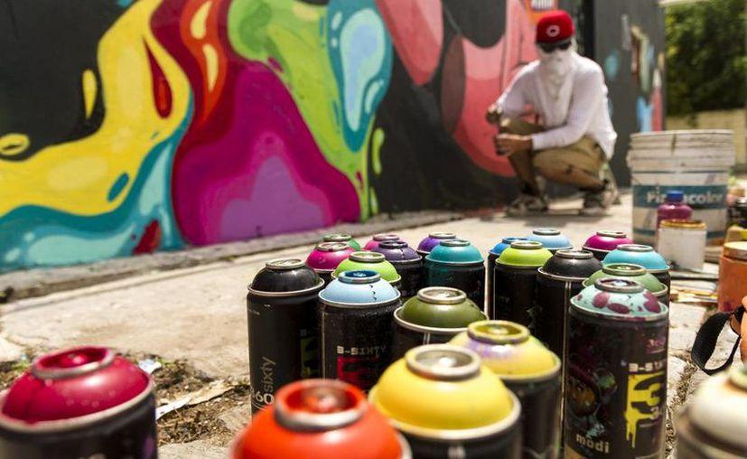 Varios Barrios fusiona graffiti y muralismo en sus obras. (Contexto/Internet)