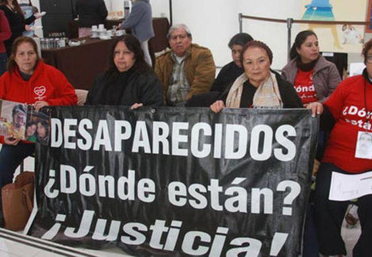 Imagen de una protesta de familiares de algunas personas desaparecidas en México. (Milenio)