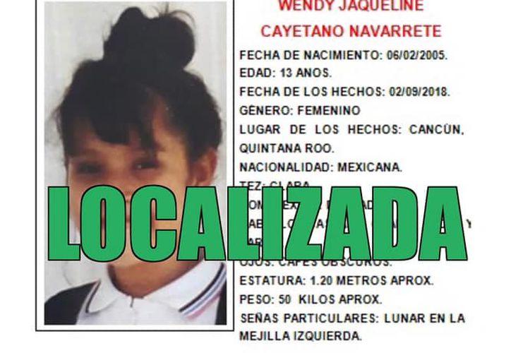 Los familiares de la menor habían solicitado a la ciudadanía su colaboración para dar con su paradero. (Redacción)