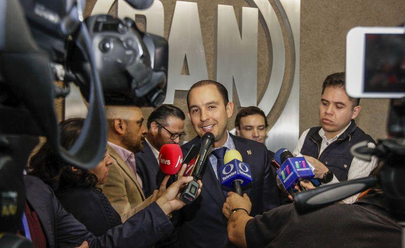 El dirigente nacional del PAN, Marko Cortés Mendoza. (Notimex)