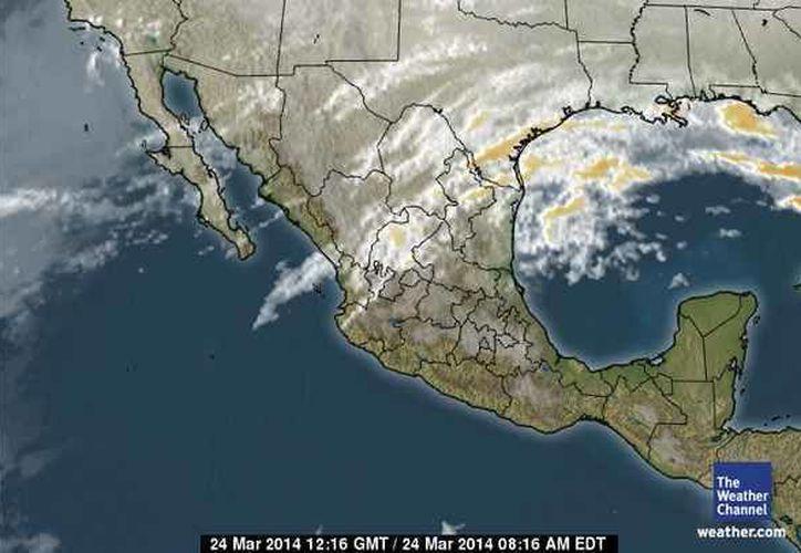 Un sistema anticiclónico localizado en el Golfo de México provocará altas temperaturas  en la zona. (espanol.weather.com)