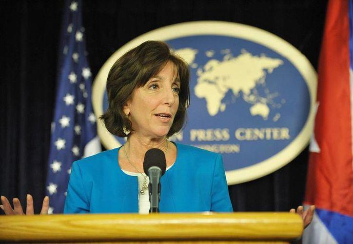 Roberta Jacobson, actual secretaria adjunta de Estado para Asuntos del Hemisferio Occidental, destacó en las negociaciones entre EU y Cuba para restablecer relaciones diplomáticas entre los dos países. (Archivo/Notimex)