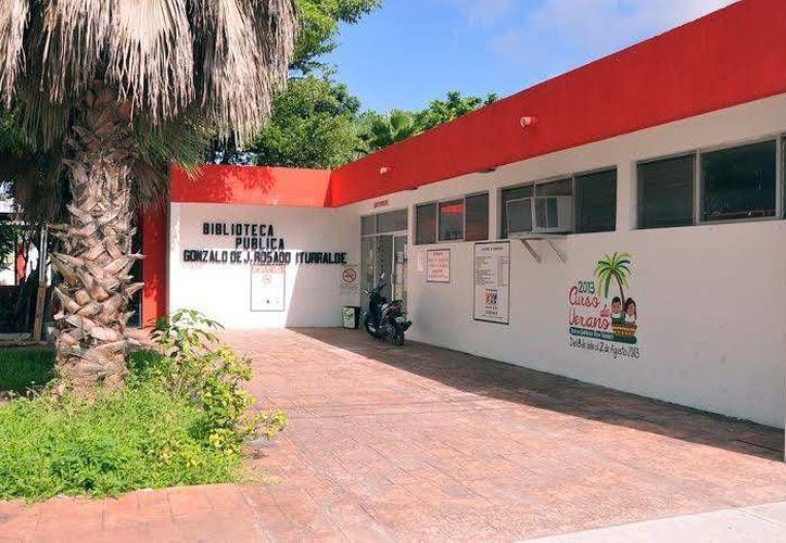 """Las clases se darán en la biblioteca pública """"Gonzalo de Jesús Rosado Iturralde"""". (Cortesía/SIPSE)"""
