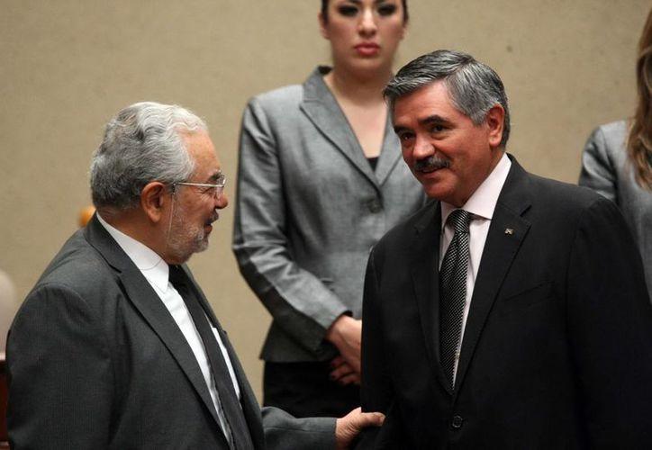 Los consejeros Sergio García Ramírez y Leonardo Valdés Zurita, durante la Sesión Extraordinaria. (Archivo/Notimex)