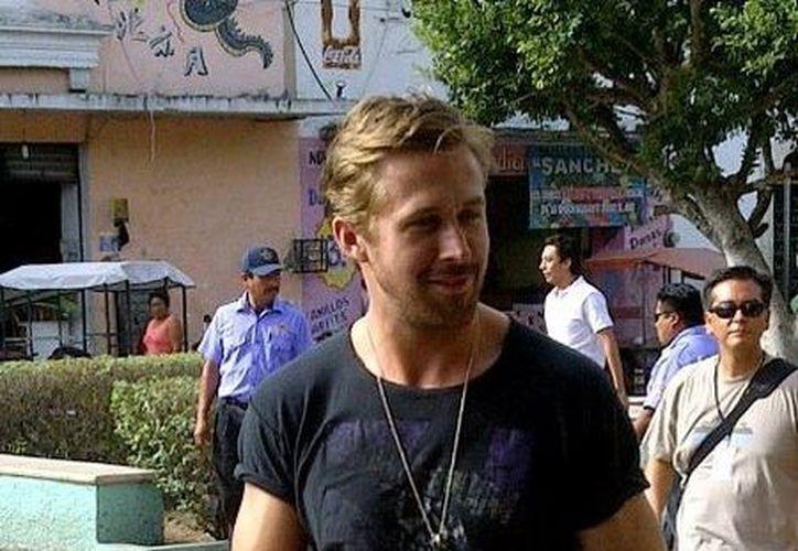 La imagen que ya circula en redes sociales en donde se puede ver a Ryan Gosling en Tixkokob.