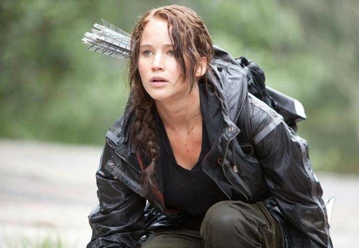 Jennifer Lawrence interpreta a Katniss Everdeen en la saga 'Los Juegos del Hambre'. (melty.es)