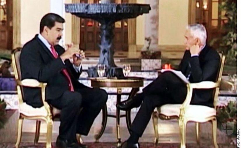 La entrevista de Jorge Ramos a Nicolás Maduro, confiscada en febrero por autoridades venezolanas, fue transmitida este domingo. (Agencia Reforma)