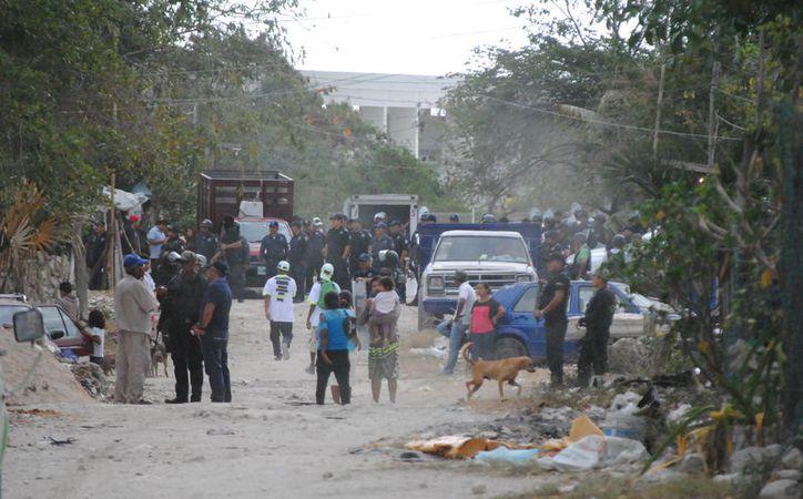 """Las familias fueron sacadas del asentamiento humano irregular denominado """"EL Fortín"""". (Redacción)"""