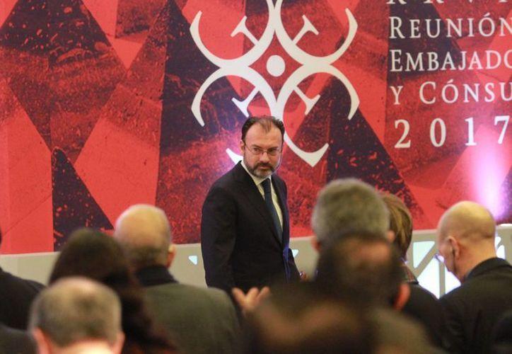 El secretario de Relaciones Exteriores, Luis Videgaray, reconoció que la interacción con el nuevo gobierno estadounidense es un reto. (Archivo/Notimex)