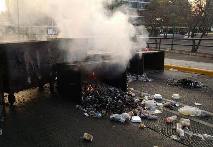 Algunos accesos de Ciudad Universitaria fueron bloquados. (César Velázquez/Milenio)