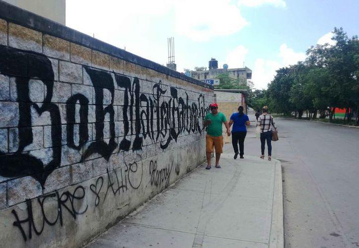 Piden la intervención de las autoridades ante el incremento del vandalismo. (Daniel Pacheco/SIPSE)