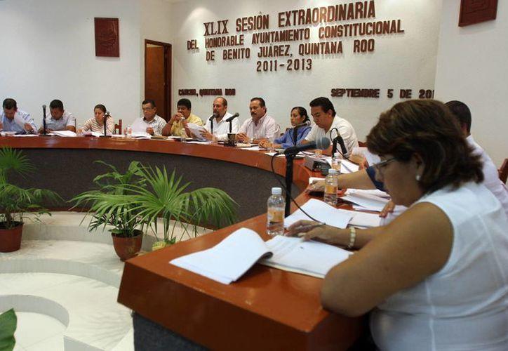 Aspectos de la XLIX sesión extraordinaria de Cabildo. (Archivo/SIPSE)