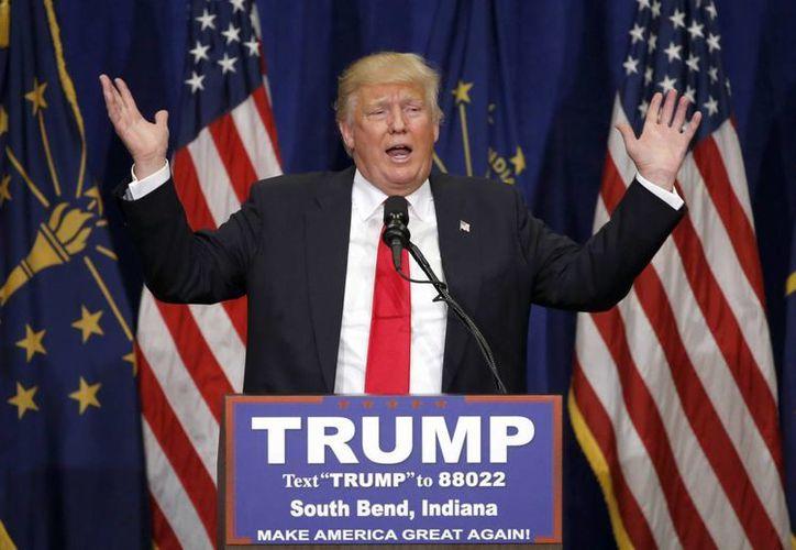 Donald Trump obtuvo el triunfo en las primarias republicanas en Indiana, celebradas este martes. (AP)