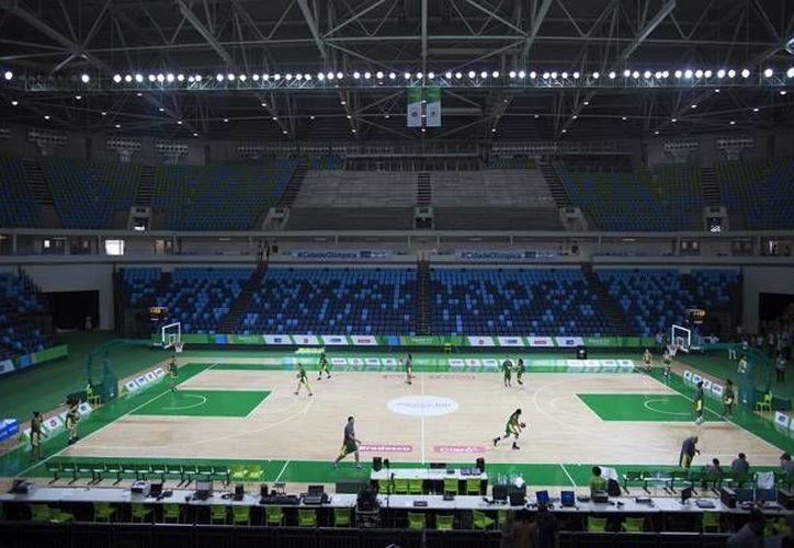 Imagen de la Arena Carioca en el Parque Olímpico del Río de Janeiro. A menos de siete meses del arranque de la justa deportiva, la venta de boletos ha sido menor que en años anteriores. (Archivo AP)