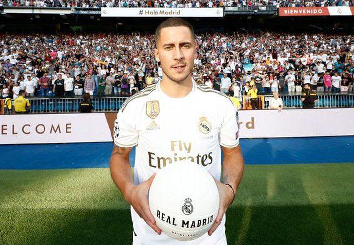 Eden Hazard viene de ganar la Europa League con el Chelsea (Fotos: @realmadrid)