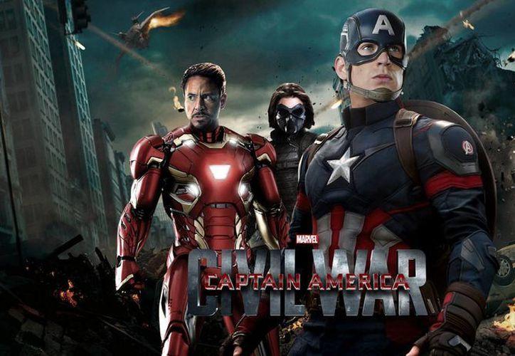 Captain America: Civil War generó 72,5 millones de dólares de un total de cuatro mil 226 pantallas donde fue exhibida. (Agencias)