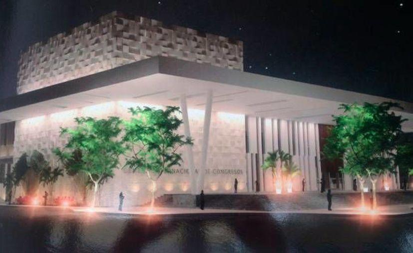 Los Congresos internacionales y turísticos son cada vez más frecuentes en Mérida, a tal grado que ya se han comenzado a multiplicar sedes para los mismos. En la foto, maqueta del Centro Internacional de Congresos de Yucatán. (Candelario Robles/Milenio Novedades)