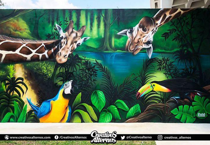 Los murales cuentan con temas sobre la fauna y la vegetación. (Creativos Alternos)