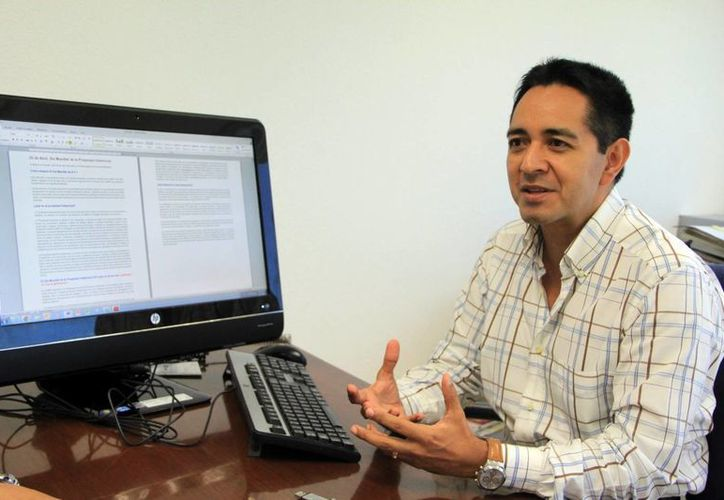 El delegado del IMPI, Jesús Vega Herrera. (SIPSE)