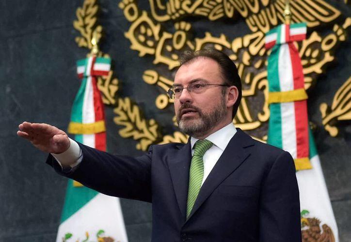 Luis Videgaray Caso es a partir de este miércoles el nuevo titular de la Secretaría de Relaciones Exteriores. (Presidencia)
