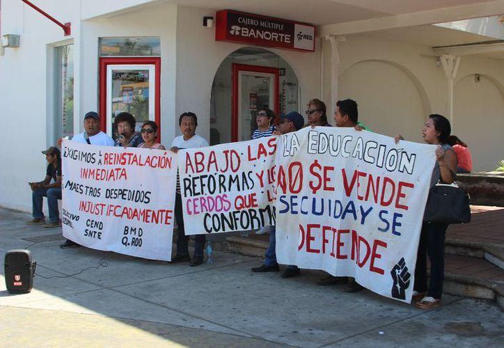 Los maestros no aceptarán la propuesta y seguirán esperando las fechas de audiencia de Conciliación. (Joel Zamora/SIPSE)