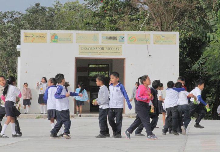 Los alumnos acuden a escuelas localizadas en zonas de escasos recursos. (Sergio Orozco/SIPSE)
