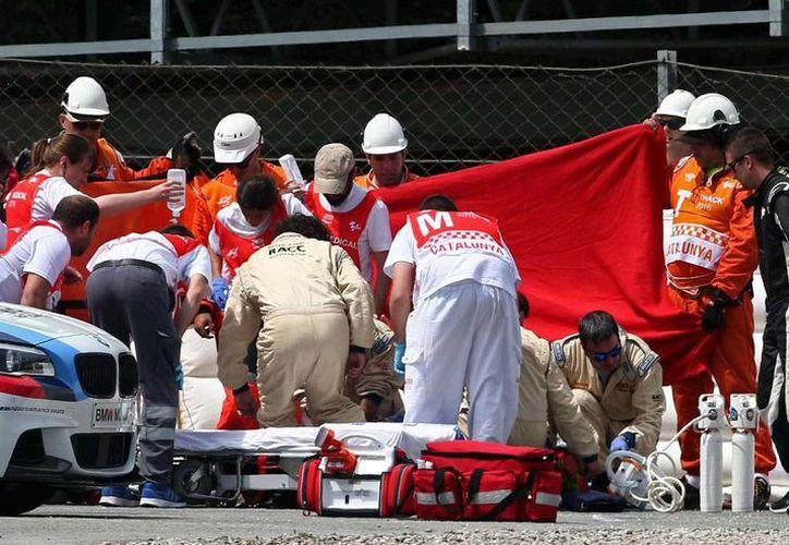 Luis Salom, piloto español de 24 años, falleció en un accidente en un entrenamiento del Gran Premio de Cataluña. (EFE)
