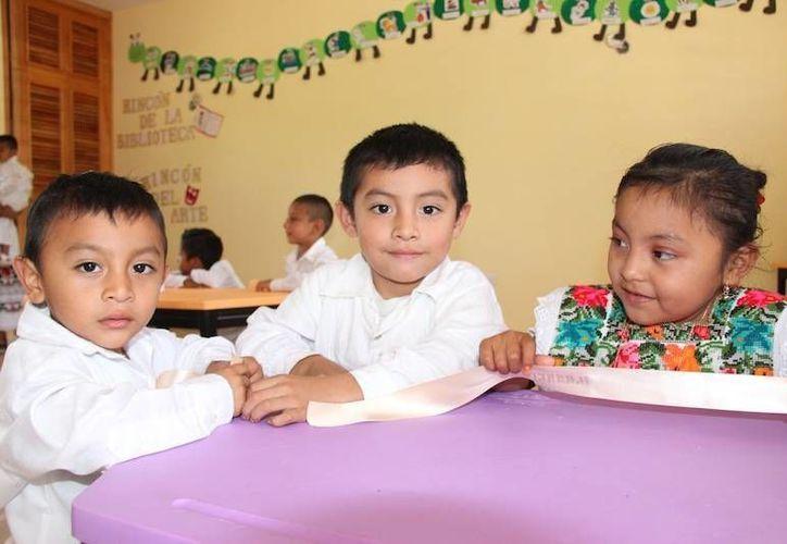 Actualmente unos 49 mil pequeños acuden a los 392 planteles de educación preescolar en el estado. (Fotografía oficial/Segey)