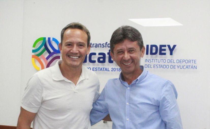Luis Hernández admiró el trabajo realizado en el Estado. (Foto: Novedades Yucatán)