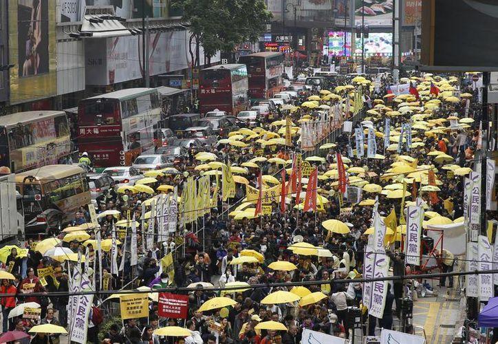Las multitudinarias manifestaciones en Hong Kong comenzaron desde el mes de septiembre de 2014. (AP)