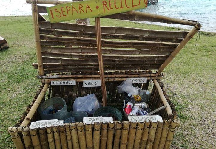 El balneario cayuco maya, es uno de los pocos sitios de visita masiva donde se encuentran depósitos de basura clasificada. (Javier Ortiz/SIPSE)
