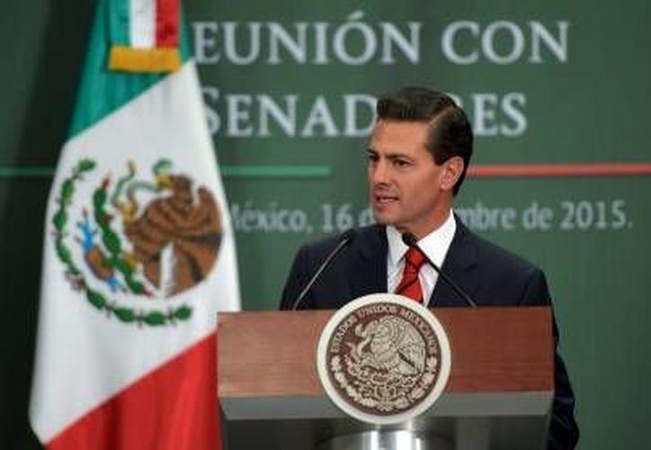 Enrique Peña Nieto dijo que 2015 fue un año en que México avanzó y eliminó barreras. (Archivo/Notimex)