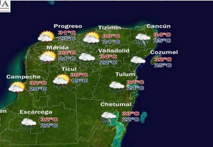 Esta tarde hay altas probabilidades de lluvia en Quintana Roo. (Conagua)
