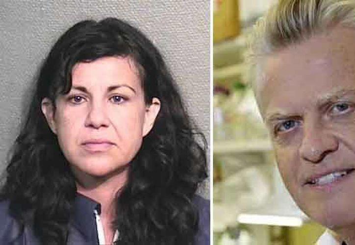 La presunta asesina y su víctima. (www.telemundochicago.com)