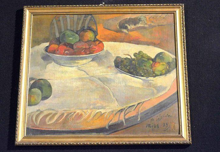 La autenticidad de la naturaleza muerta de Paul Gauguin fue descubierta por la peculiar firma del artista: un perro. (Agencias)
