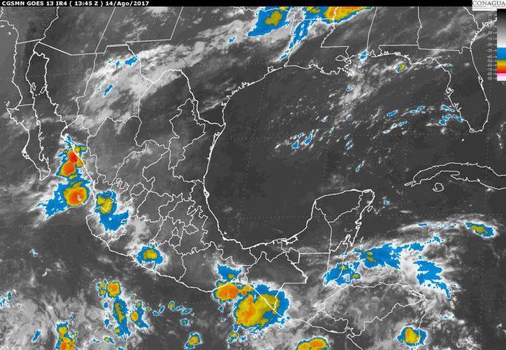 Para hoy se espera la formación de tormentas por la tarde. (Conagua)