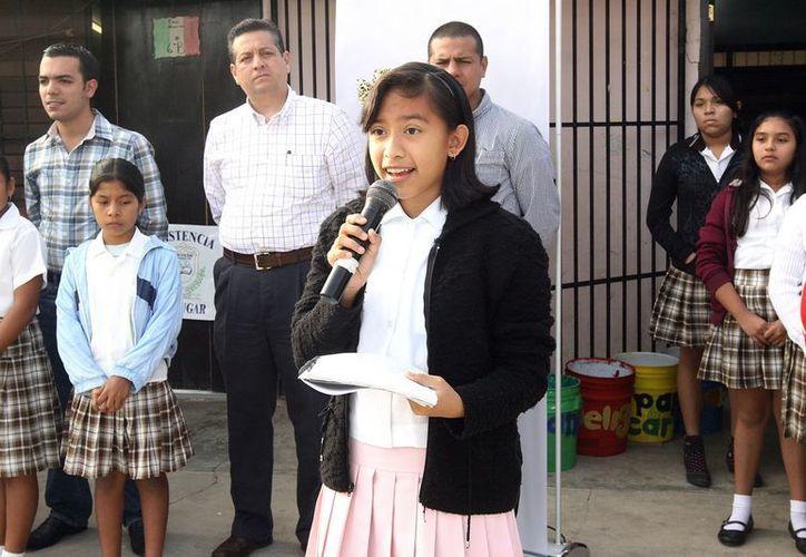 Estudiantes agradecieron al Ayuntamiento de Mérida el apoyo. (Cortesía)