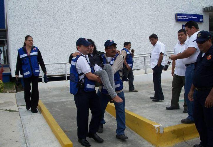Los simulacros por parte de  protección civil son cada vez más frecuentes (Milenio Novedades)