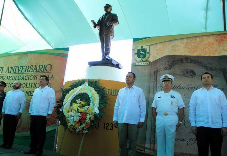 Yucatán conmemoró el 96 aniversario de la Constitución. (José Acosta/SIPSE)