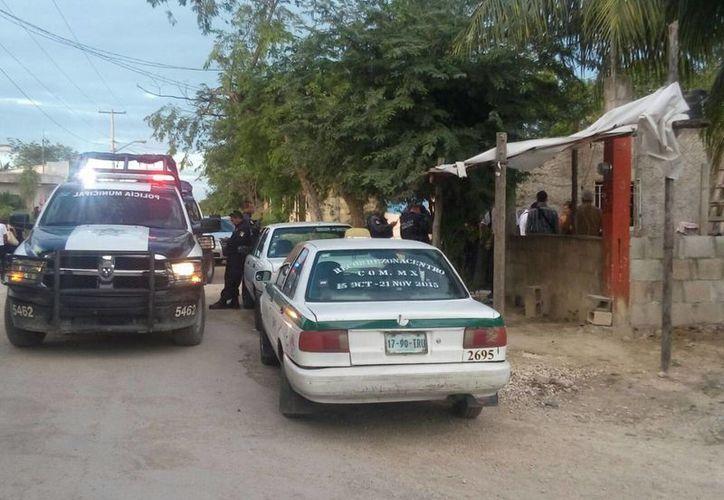 Un sujeto fue baleado en la colonia Santa Cecilia de Cancún la tarde del domingo. (Redacción/SIPSE)