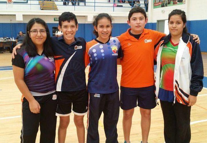 Algunos seleccionados nacionales de cara al Campeonato Latinoamericano y Panamericano Sub 15. (Ángel Mazariego/SIPSE)