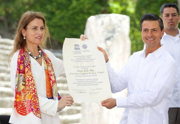 Con Calakmul suman 31 bienes mixtos en el mundo declarados Patrimonio Mundial por la Unesco. (Presidencia)